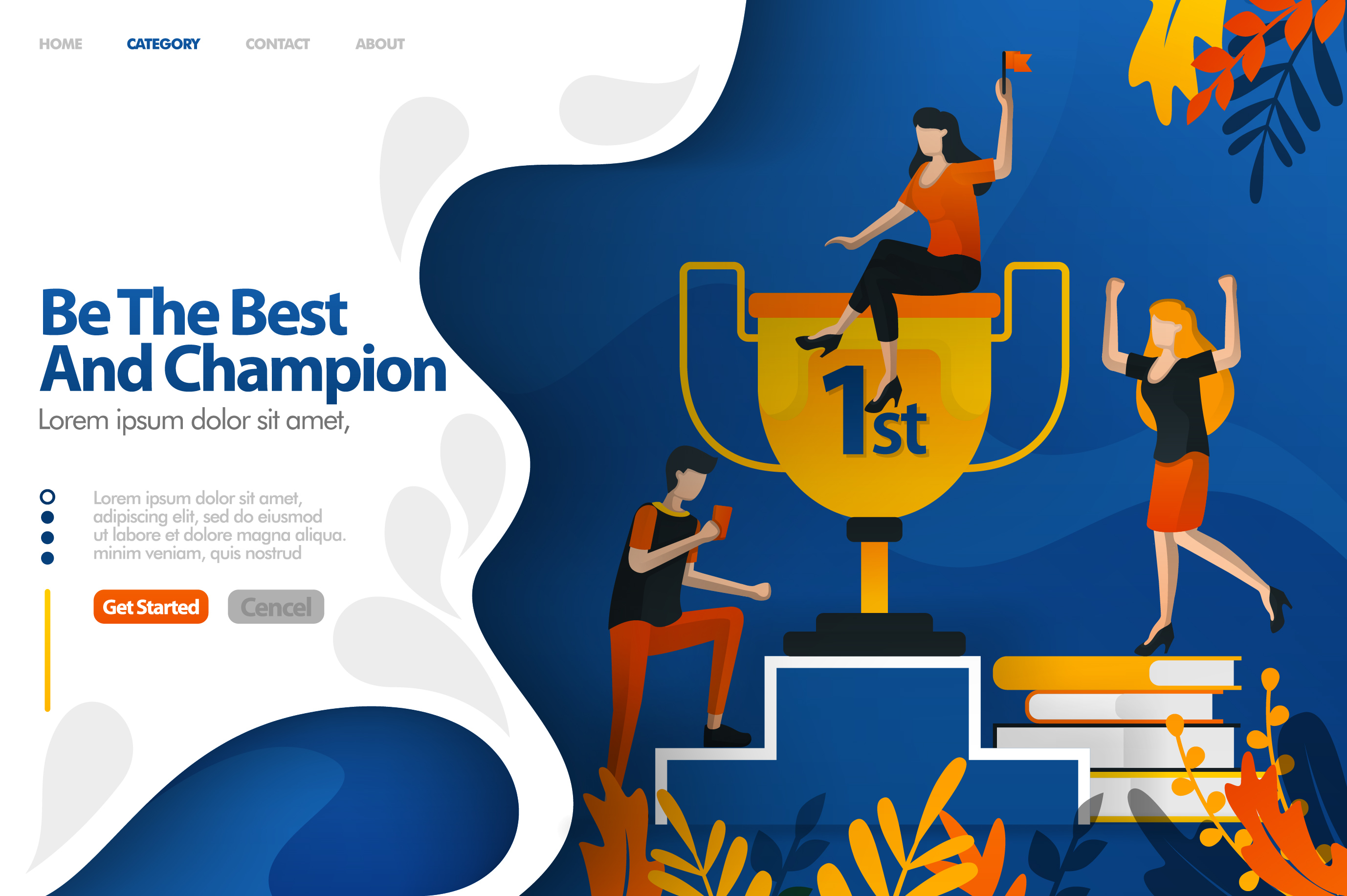 Download Free Banner Of Best And Champion Trophy Graphic By Setiawanarief111 SVG Cut Files