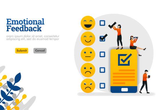 Download Free Banner With Emoticons And Checklists Graphic By Setiawanarief111 for Cricut Explore, Silhouette and other cutting machines.