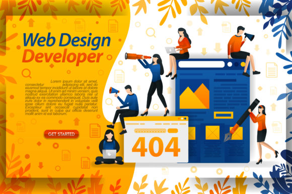 Print on Demand: Build a Website Design Developer Graphic Graphic Templates By setiawanarief111