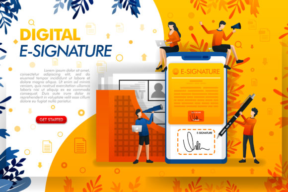 Print on Demand: Digital Signature for Document Security Graphic Graphic Templates By setiawanarief111