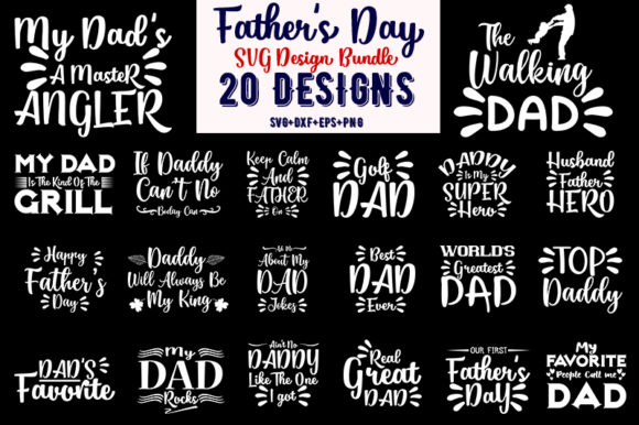 Download Free Father S Day Bundle Graphic By Design Store Creative Fabrica for Cricut Explore, Silhouette and other cutting machines.
