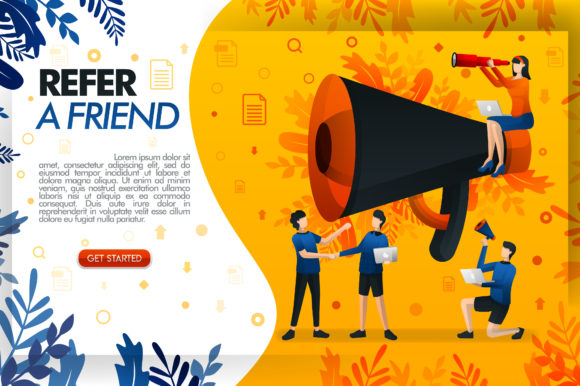 Download Free Giant Megaphone For Online Promotion Graphic By Setiawanarief111 for Cricut Explore, Silhouette and other cutting machines.