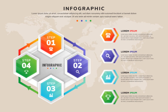 Print on Demand: Infographics Hexagon Pattern Graphic Infographics By noory.shopper