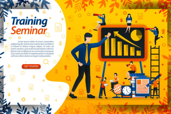Download Free Seminar For Entrepreneur Training Graphic By Setiawanarief111 for Cricut Explore, Silhouette and other cutting machines.
