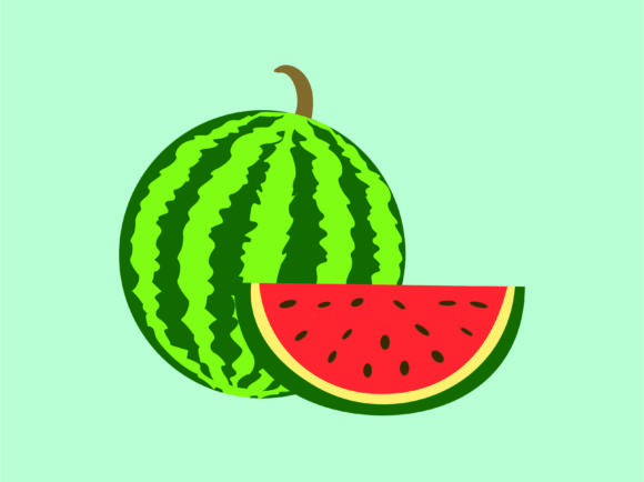 Download Free Watermelon Icon Cartoon Character Vector Graphic By 1tokosepatu for Cricut Explore, Silhouette and other cutting machines.