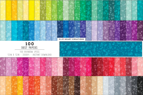 100 Dust Bokeh Papers Graphic Backgrounds By clipheartcreations
