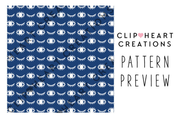 100 Eyes Pattern Papers Graphic Backgrounds By clipheartcreations - Image 2