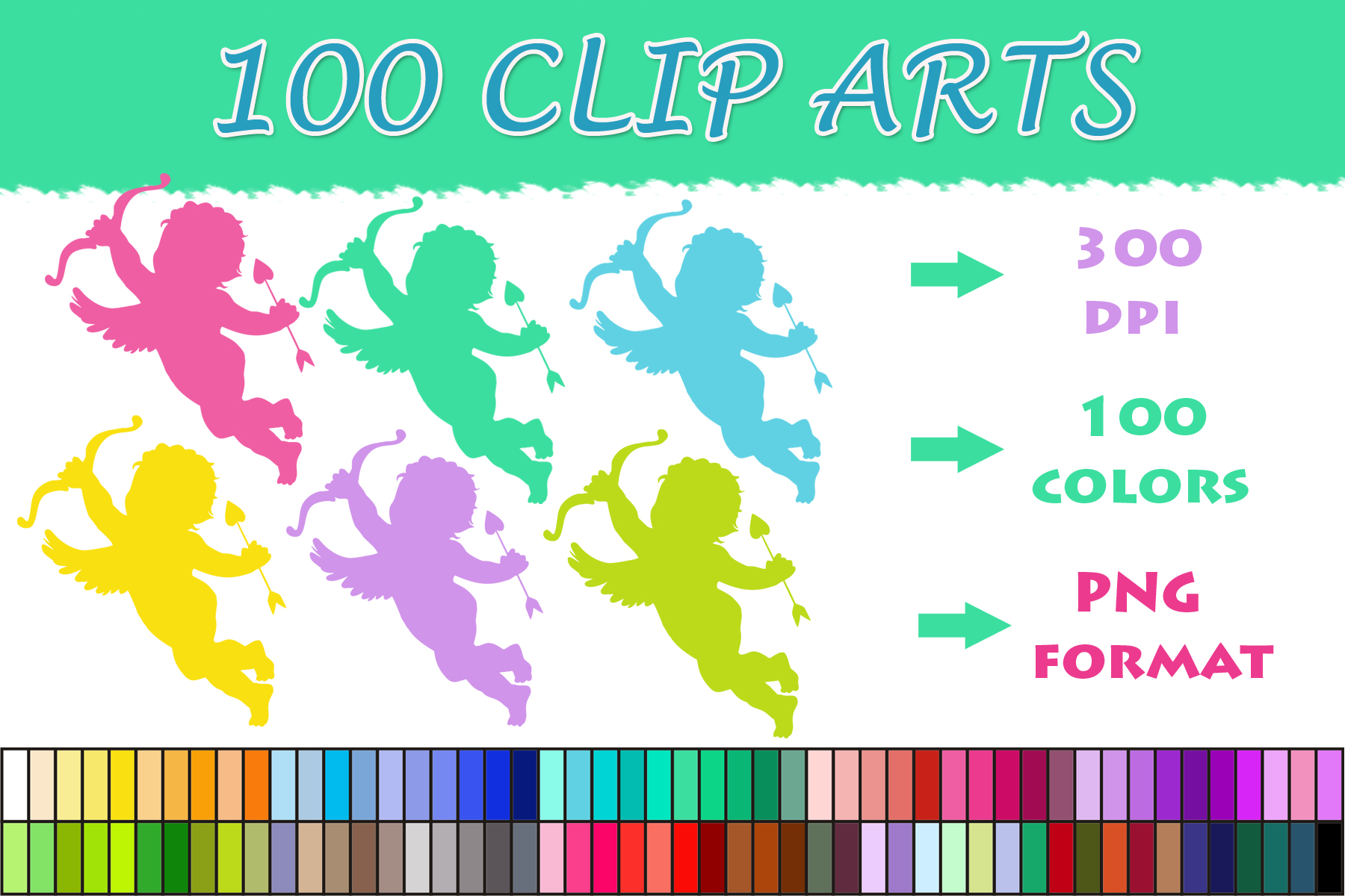 Download Free 100 Angel Clip Art Graphic By Sweetdesign Creative Fabrica for Cricut Explore, Silhouette and other cutting machines.