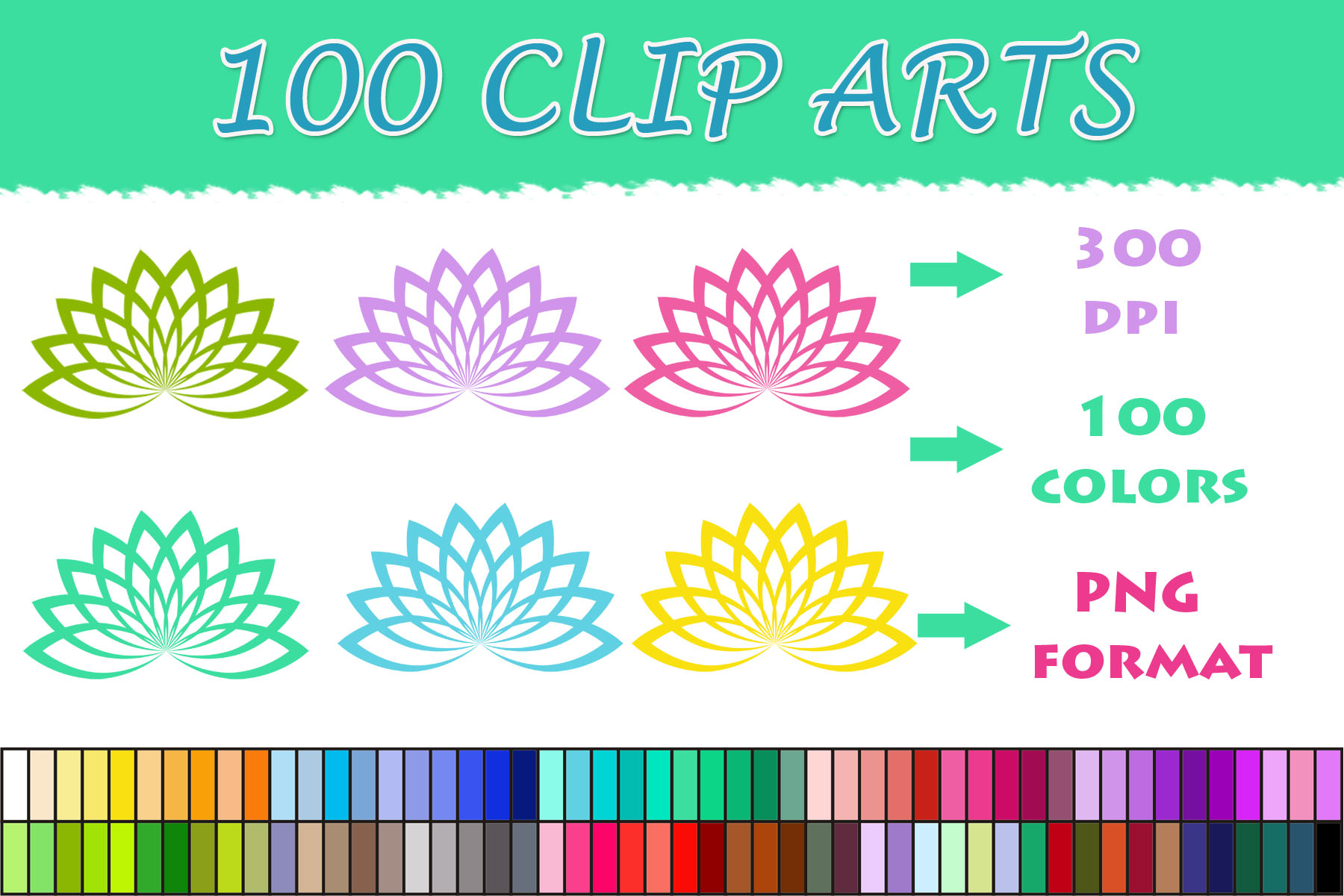 Download Free 100 Lotus Clip Art Graphic By Sweetdesign Creative Fabrica for Cricut Explore, Silhouette and other cutting machines.