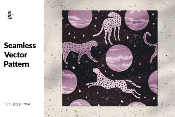 Print on Demand: Abstract Cosmos Seamless Pattern Graphic Patterns By northseastudio