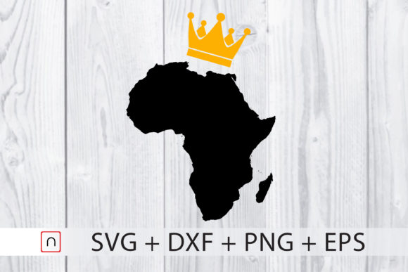 Download Free Africa Map Gold Crown King Graphic By Novalia Creative Fabrica for Cricut Explore, Silhouette and other cutting machines.