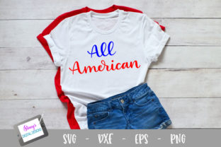 Download Free All American Design Graphic By Stacysdigitaldesigns Creative for Cricut Explore, Silhouette and other cutting machines.
