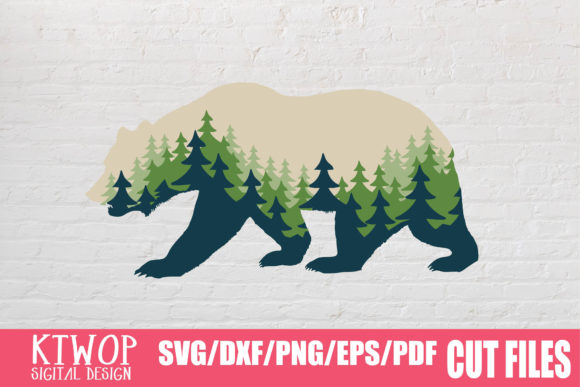 Download Free Bear Adventure Nature Graphic By Ktwop Creative Fabrica SVG Cut Files