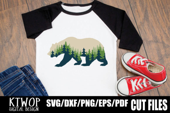 Download Free Bear Adventure Nature Graphic By Ktwop Creative Fabrica for Cricut Explore, Silhouette and other cutting machines.