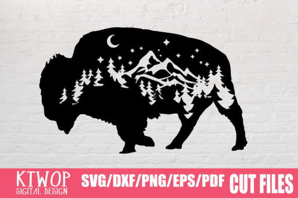 Download Free Bison Adventure Nature 2020 Graphic By Ktwop Creative Fabrica for Cricut Explore, Silhouette and other cutting machines.