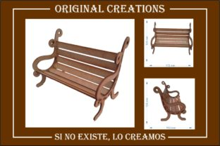 Bench - Laser Cut Graphic 3D Shapes By originalcreations.ec
