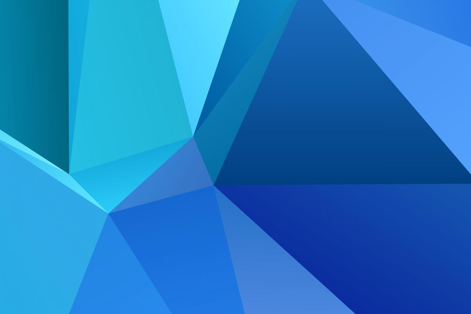 Blue Chaotic Triangle Background Graphic By Davidzydd Creative