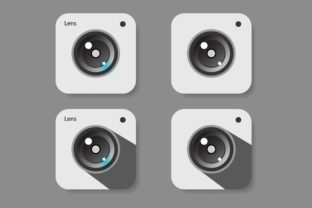 Download Free Camera Lens Icon Set Graphic By Msholicha9 Creative Fabrica for Cricut Explore, Silhouette and other cutting machines.