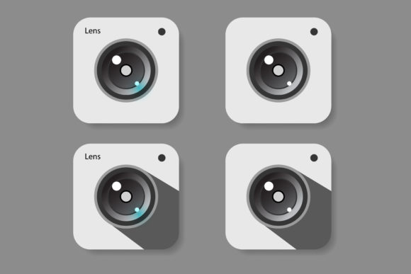 Camera Lens Icon Set Graphic Icons By sholicha