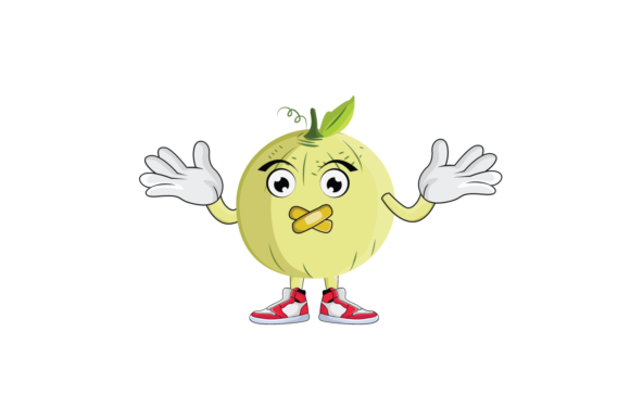 Download Free Cantaloupe Fruit Cartoon Character Graphic By Printablesplazza for Cricut Explore, Silhouette and other cutting machines.