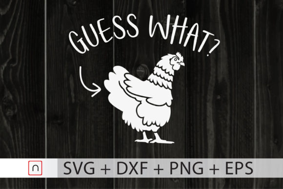 Print on Demand: Guess What - Chicken Graphic Print Templates By Novalia