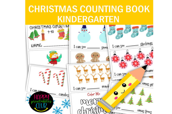 Print on Demand: Christmas Counting 1-10 Activity Book Graphic K By Happy Printables Club