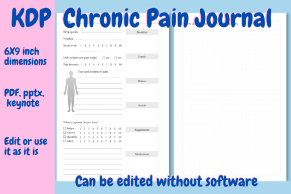 Chronic Pain Journal For Kdp Graphic By Income Plum Creative