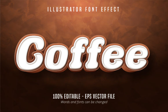 Download Free Coffee Text 3d Editable Font Effect Graphic By Mustafa Beksen for Cricut Explore, Silhouette and other cutting machines.