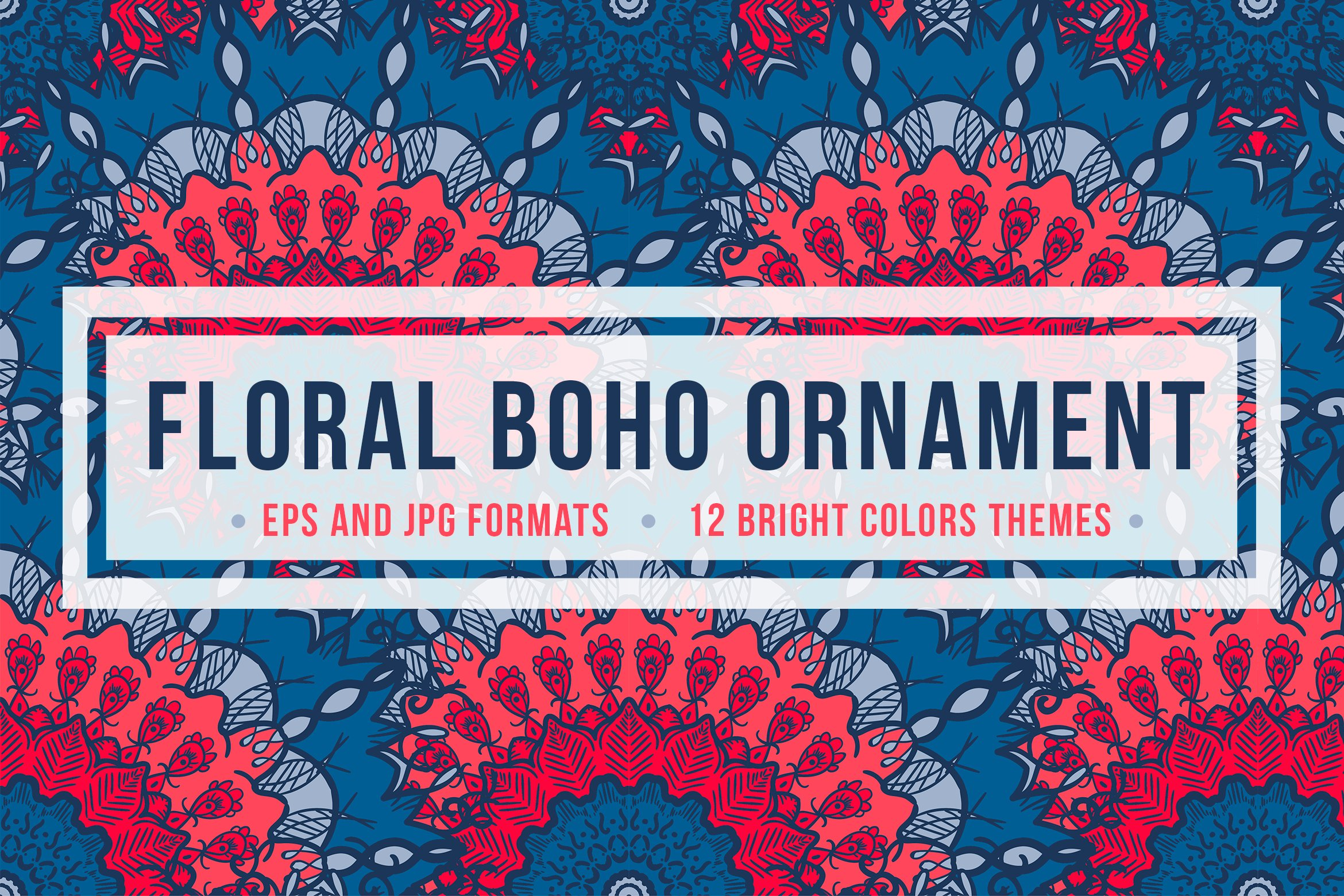 Download Free Floral Boho Ornament Graphic By Barsrsind Creative Fabrica for Cricut Explore, Silhouette and other cutting machines.