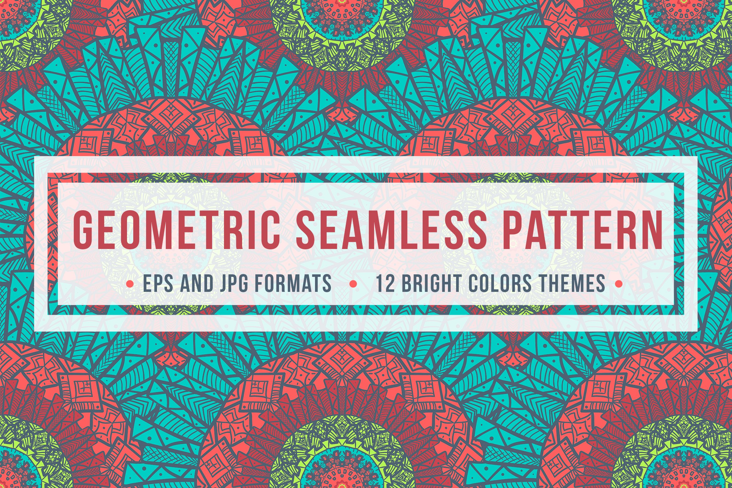 Download Free Geometric Seamless Pattern Graphic By Barsrsind Creative Fabrica for Cricut Explore, Silhouette and other cutting machines.