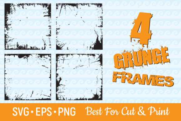 Grunge Frames Design Elements Distressed Graphic Crafts By OlimpDesign