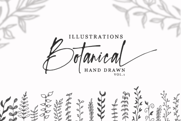 Print on Demand: Hand Drawn Botanical Illustrations Vol.1 Graphic Illustrations By silverdav