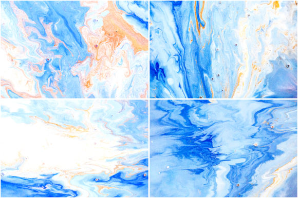 Download Free Handmade Liquid Paint Ocean Blue Graphic By Pandoradreams for Cricut Explore, Silhouette and other cutting machines.