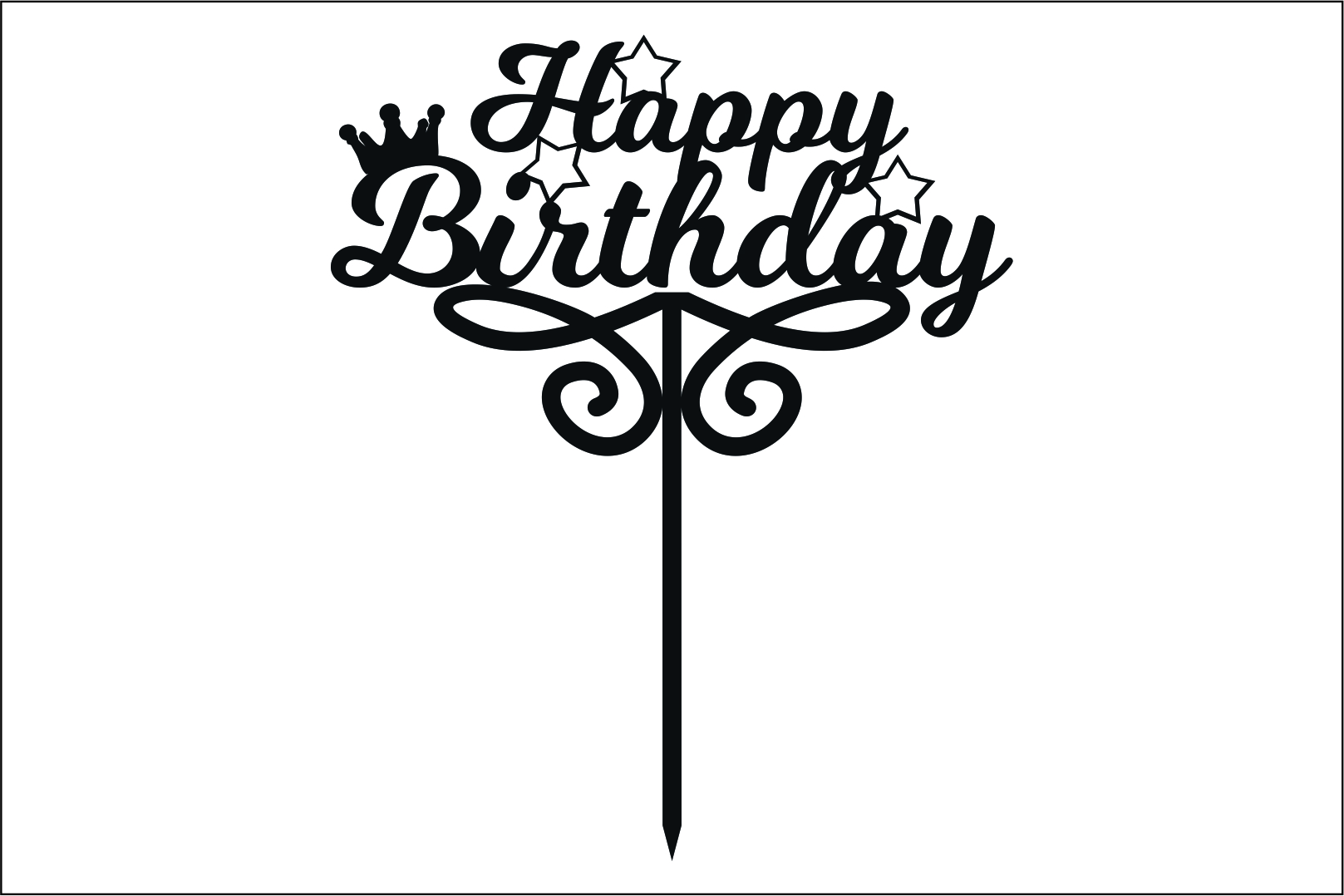Download Free Happy Birthday Topper Laser Cutting Graphic By Fast Store for Cricut Explore, Silhouette and other cutting machines.