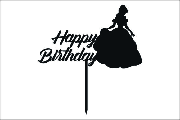Happy Birthday TopperLaser Cutting Graphic Product Mockups By bn3300877