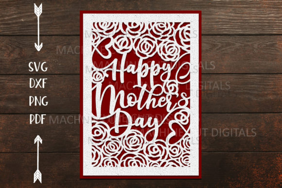 Happy Mothers Day Card Papercut Graphic Crafts By Cornelia