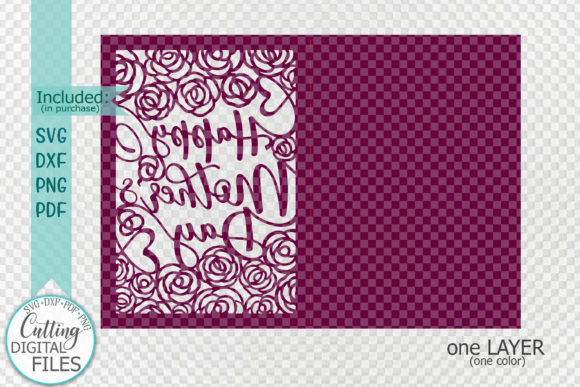 Download Free Happy Mothers Day Card Papercut Graphic By Cornelia Creative for Cricut Explore, Silhouette and other cutting machines.