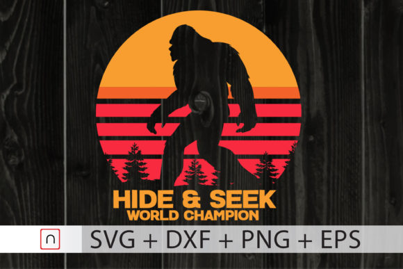 Print on Demand: Hide and Seek World Champion Bigfoot Graphic Print Templates By Novalia
