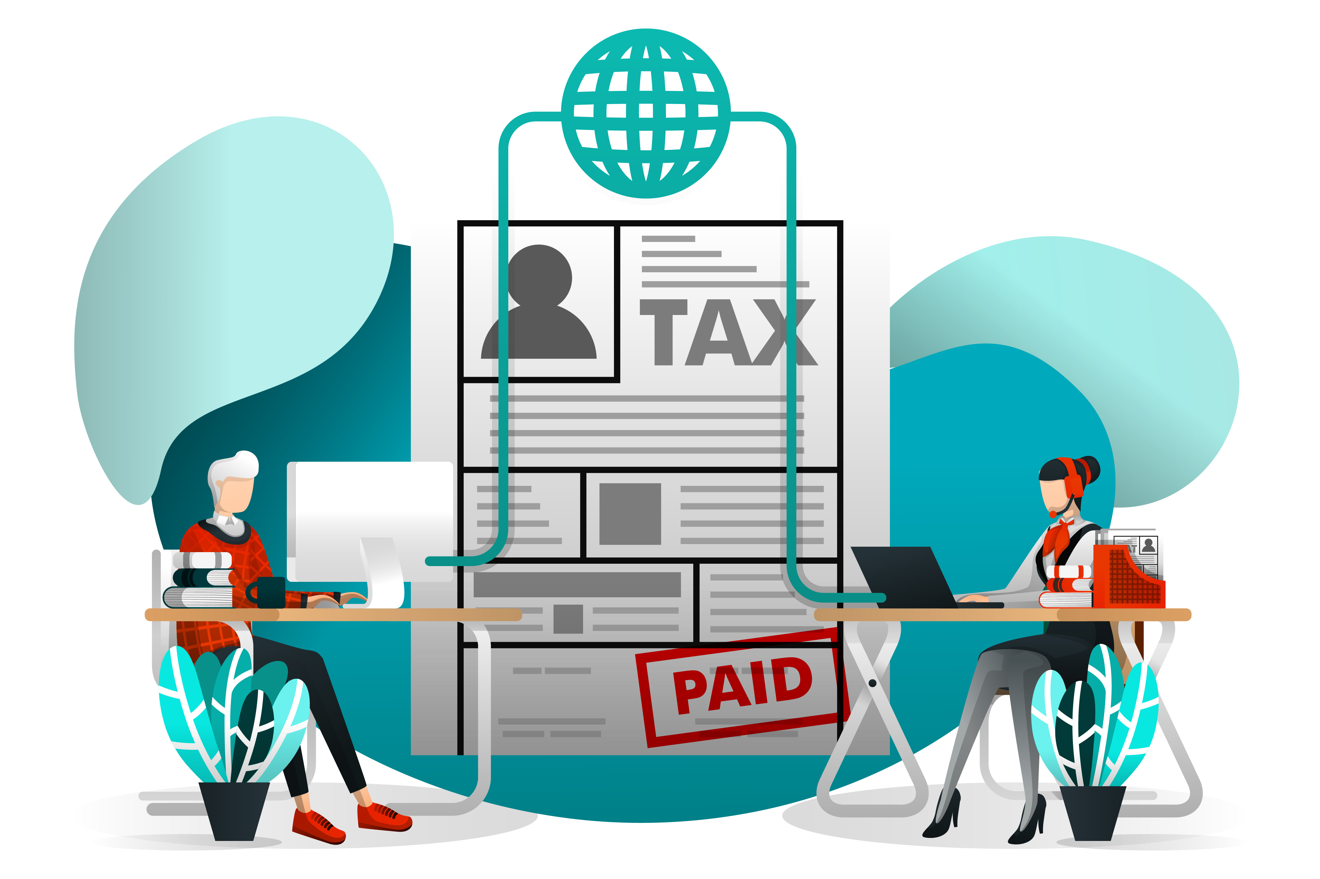 Download Free Illustration Of Online Tax Payment Graphic By Setiawanarief111 for Cricut Explore, Silhouette and other cutting machines.