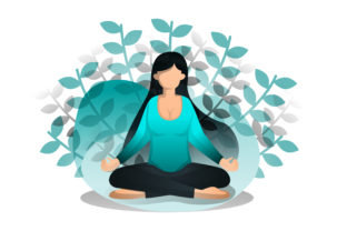 Print on Demand: Illustration of Sits in Lotus Position Graphic Illustrations By setiawanarief111