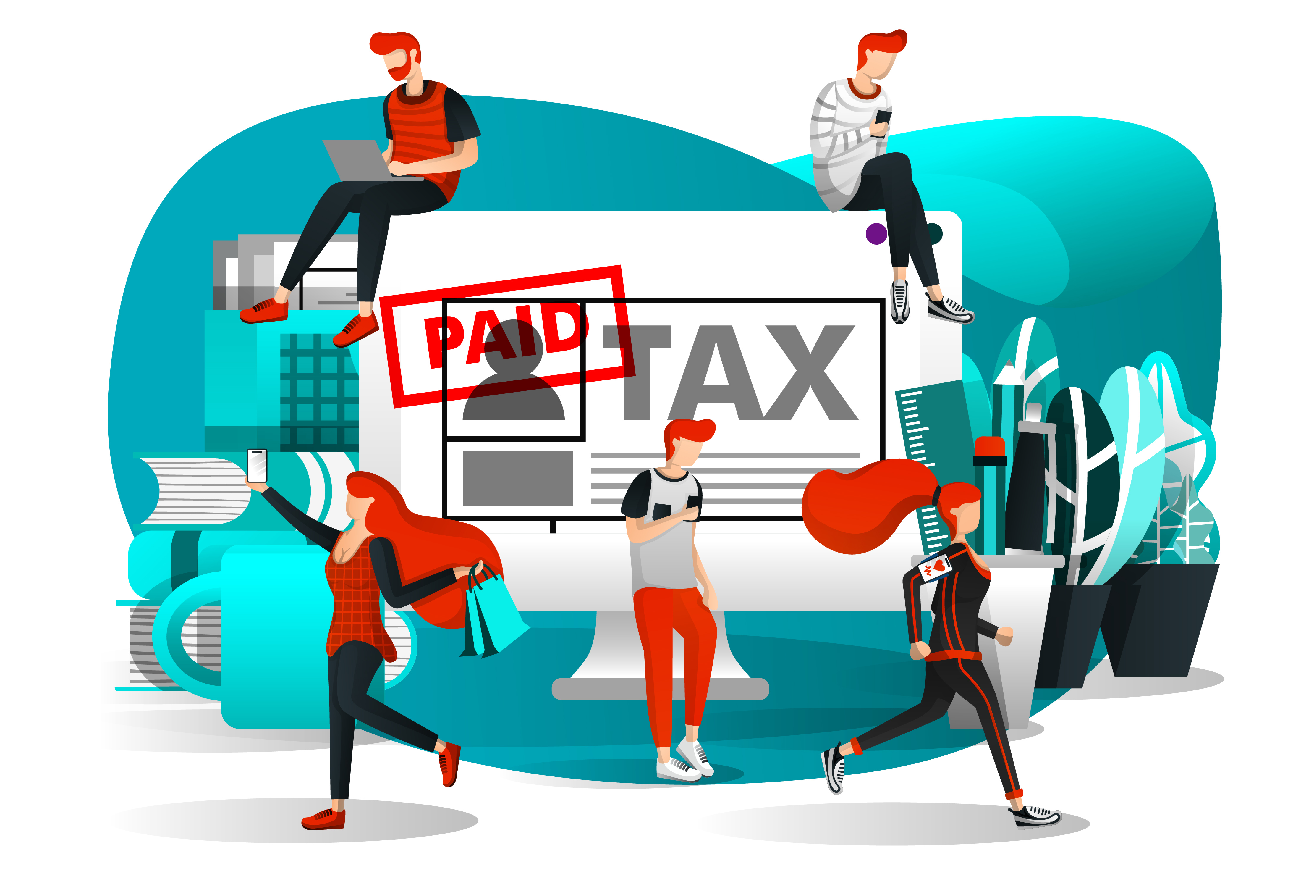 Download Free Illustration Of Payment Of Taxes Graphic By Setiawanarief111 for Cricut Explore, Silhouette and other cutting machines.