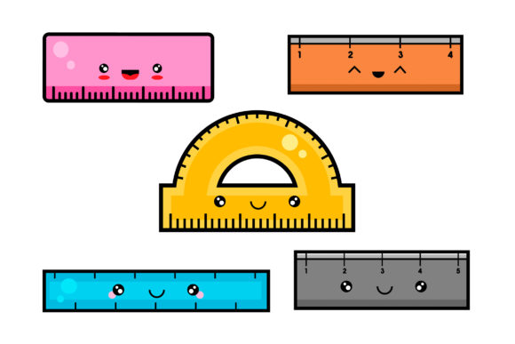 Download Free Kawaii Ruler Set Graphic By Miss Chatz Creative Fabrica for Cricut Explore, Silhouette and other cutting machines.