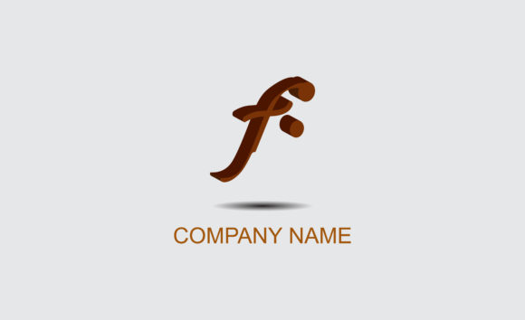 Download Free Letter Logo F 3d Graphic By Mahesa Design Creative Fabrica for Cricut Explore, Silhouette and other cutting machines.