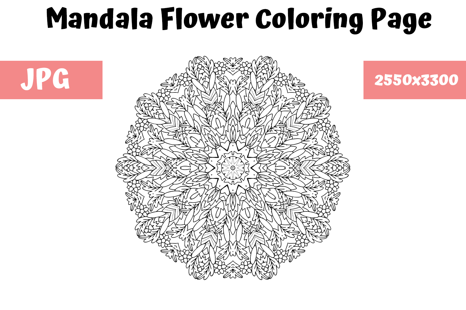 Download Free Mandala Flower Coloring Book Page 5 Graphic By Mybeautifulfiles for Cricut Explore, Silhouette and other cutting machines.