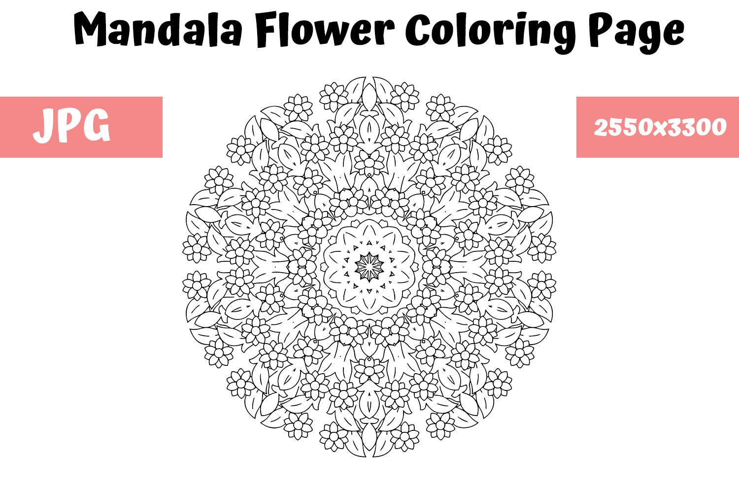 Download Free Mandala Flower Coloring Book Page 8 Graphic By Mybeautifulfiles SVG Cut Files