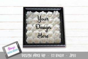 Mock Up Rolled Flower Shadow Box Graphic By