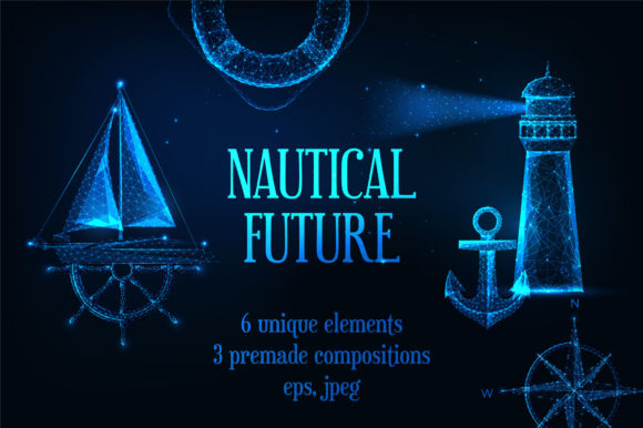 Nautical Future Graphic Illustrations By inkoly.art