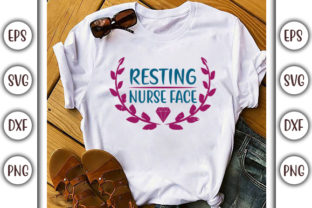 Download Free Resting Nurse Face Graphic By Graphicsbooth Creative Fabrica for Cricut Explore, Silhouette and other cutting machines.