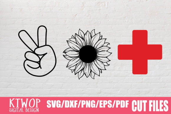 Print on Demand: Peace Sunflower Nurse 2020 Graphic Crafts By KtwoP