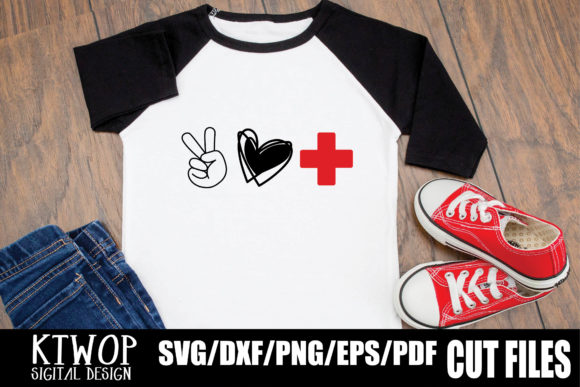 Download Free Peace Love Nurse 2020 Graphic By Ktwop Creative Fabrica for Cricut Explore, Silhouette and other cutting machines.